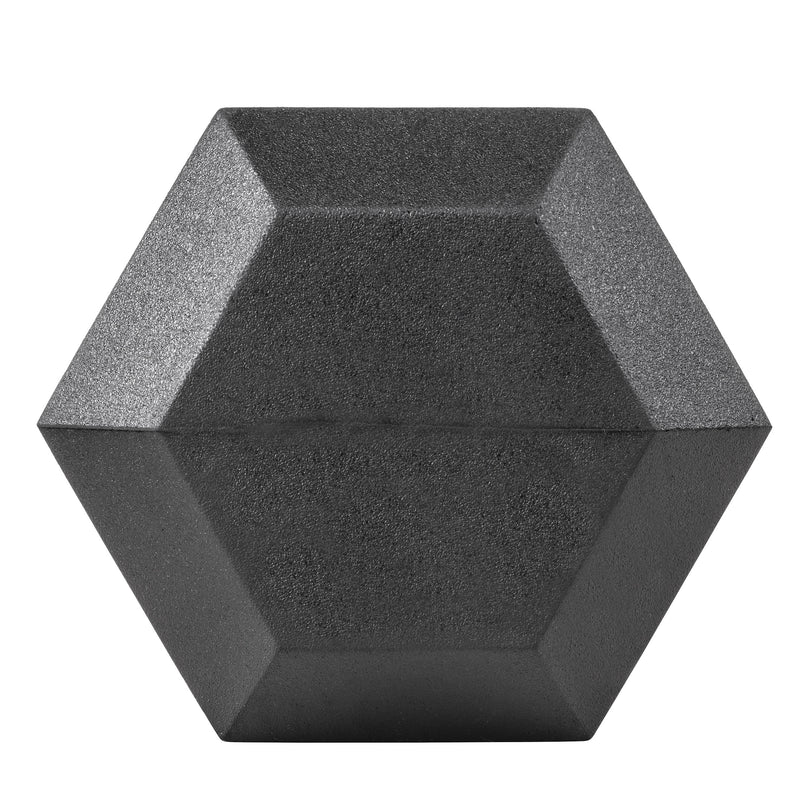 Lifeline Hex Rubber Dumbbell - 40 LBS_3