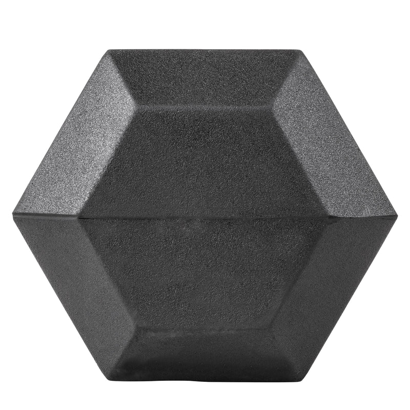 Lifeline Hex Rubber Dumbbell - 45 LBS_7