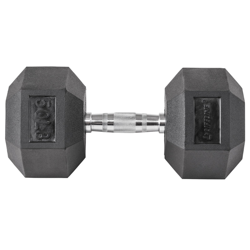 Lifeline Hex Rubber Dumbbell - 50 LBS_13