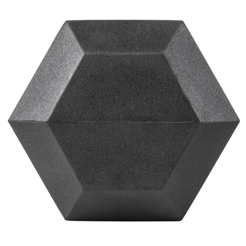 Lifeline Hex Rubber Dumbbell - 50 LBS_9