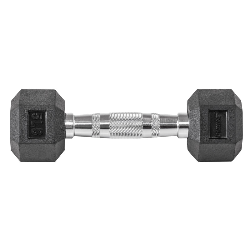 Lifeline Hex Rubber Dumbbell - 5 LBS_4