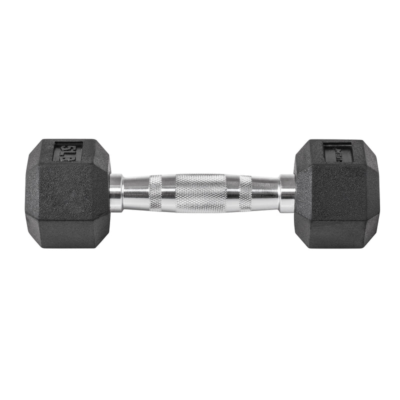 Lifeline Hex Rubber Dumbbell - 5 LBS_9