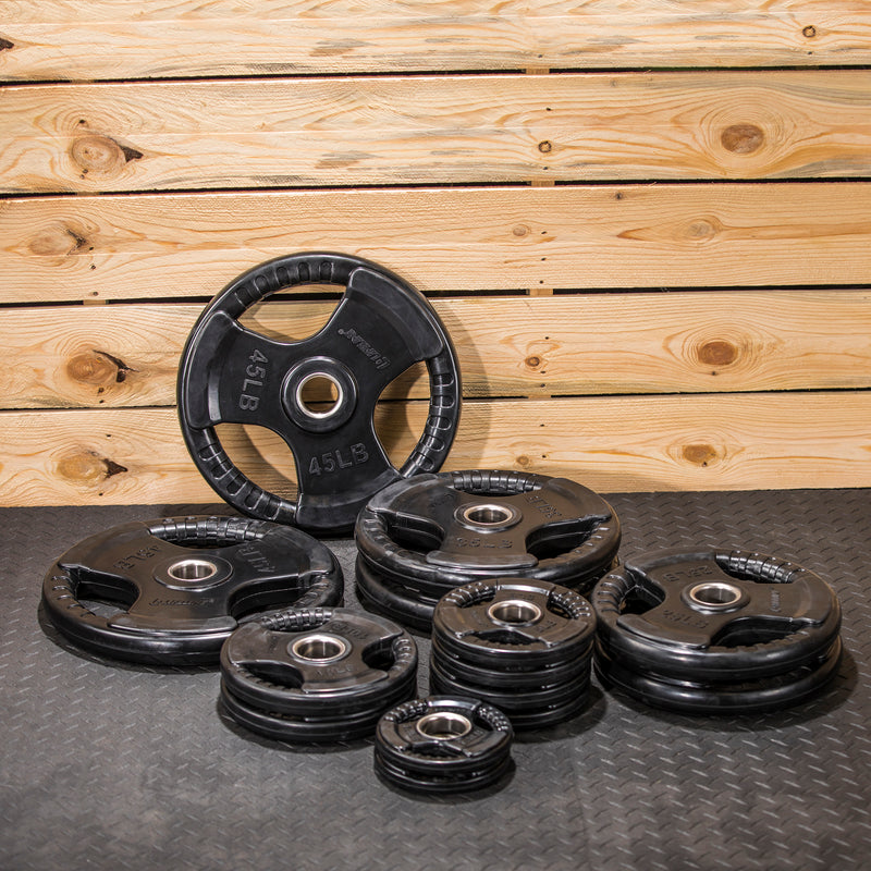 Lifeline Olympic Rubber Grip Plate Set - 255 LBS_5