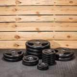 Lifeline Olympic Rubber Grip Plate Set - 355 LBS_2