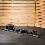 Lifeline Olympic Rubber Grip Plate Set - 400 LBS_2