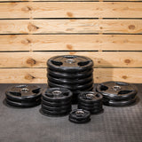 Lifeline Olympic Rubber Grip Plate Set - 455 LBS_2