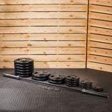 Lifeline Olympic Rubber Grip Plate Set - 500 LBS_2