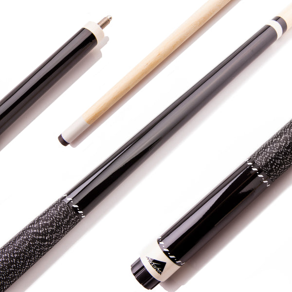 "Mizerak 57"" Two-Piece Hardwood Cue - Black_1"