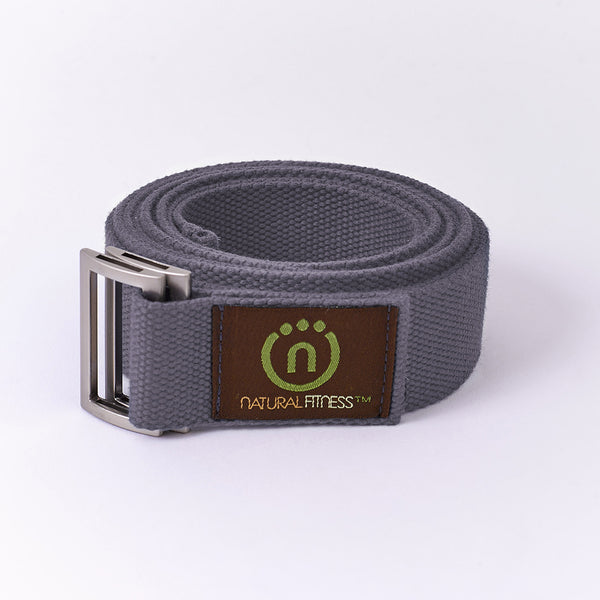 Natural Fitness Hemp Yoga Strap - Granite_1