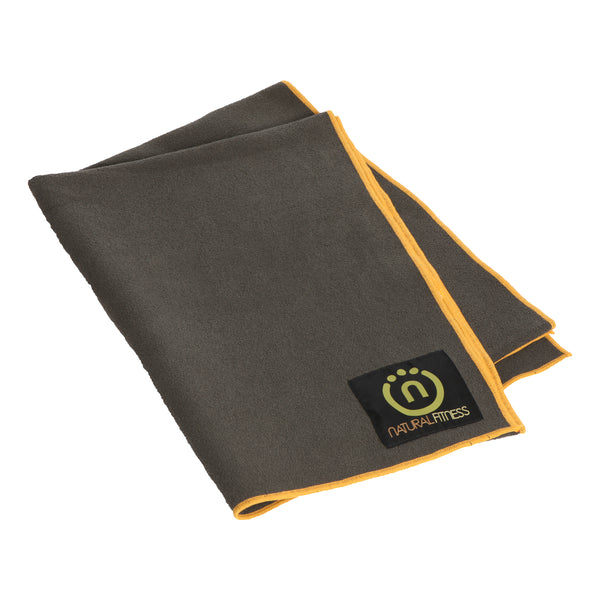 Natural Fitness Yoga Mat Towel- Carbon/Sun_1