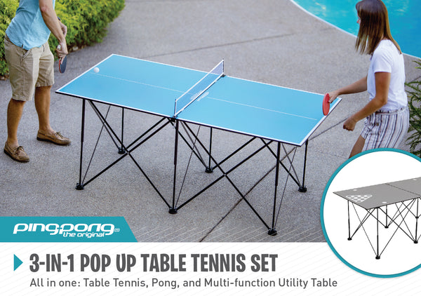 Ping Pong 6' Pop Up Table Tennis_2
