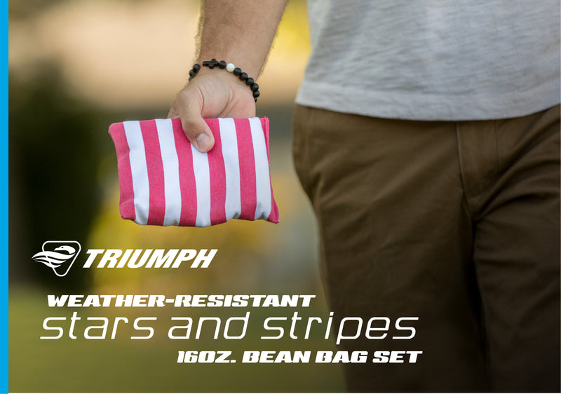 "Triumph 8-Pack 6"" x 6"" 16 oz. Bean Bags with Tub (Patriotic)_2"