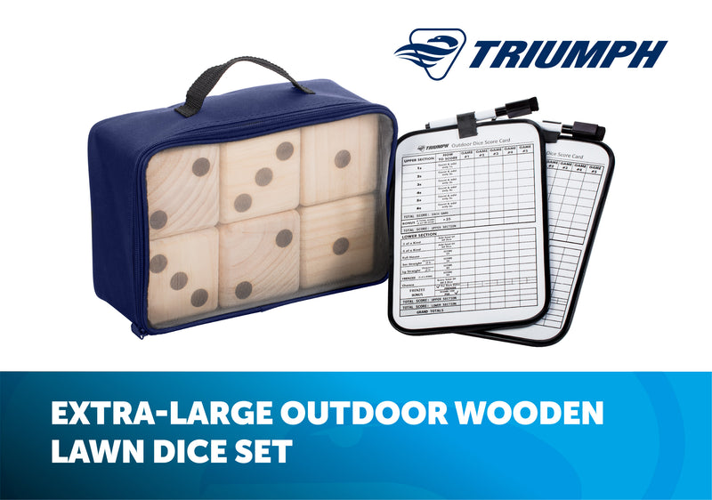 Triumph Big Roller Wooden Lawn Dice_2