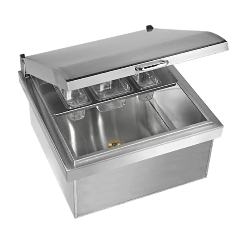 Twin Eagles 24-Inch Drop-In Stainless Steel Ice Bin Cooler