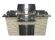 "Load image into Gallery viewer, 5' Grill Island - Ready To Assemble - 25"" Blaze Grill"