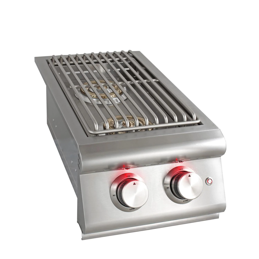 Blaze LTE Built-In Stainless Steel Double Side Burner With Lid