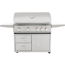 Load image into Gallery viewer, Blaze Professional 44-Inch 4-Burner Gas Grill With Rear Infrared Burner On Cart