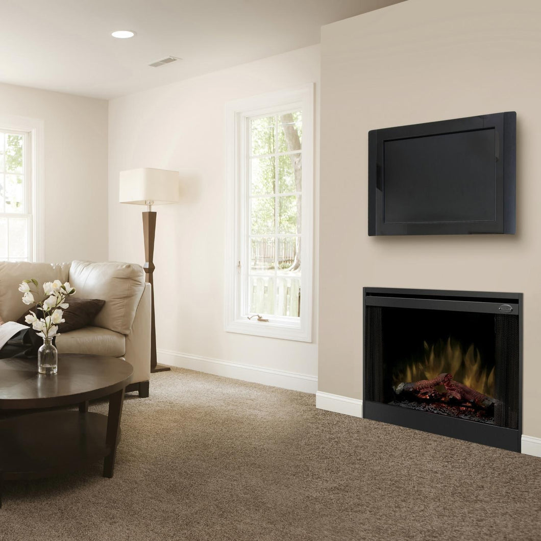 Dimplex - BFSL33 - 33-Inch Built-In Slim Line Electric Fireplace - Inner-Glow Logs
