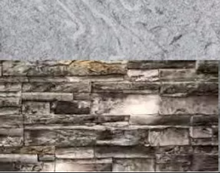Load image into Gallery viewer, Grey Stacked Stone with Cloudy White Countertop