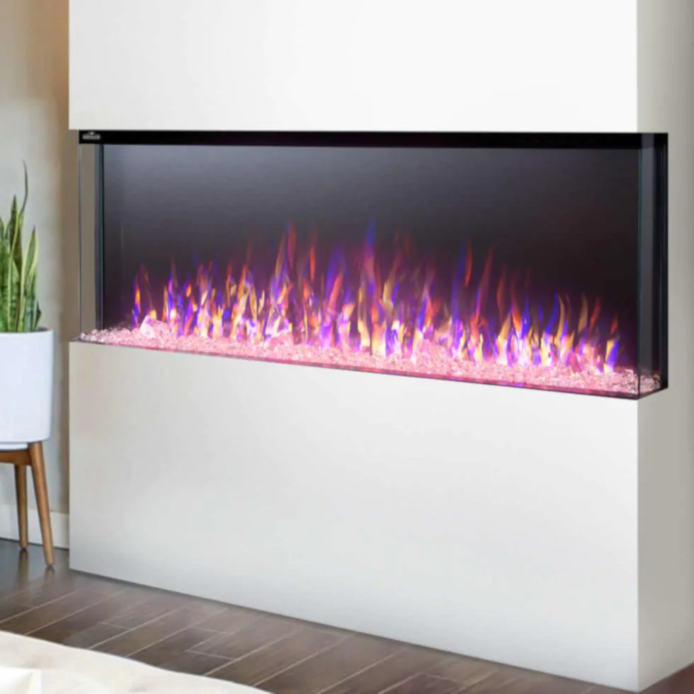 Napoleon Trivista 60 Inch 3-Sided Built-In Electric Fireplace - NEFB60H-3SV