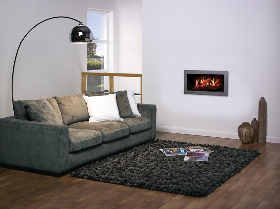 Dimplex - Opti-V Solo 30-Inch Wall Mount Virtual Electric Fireplace