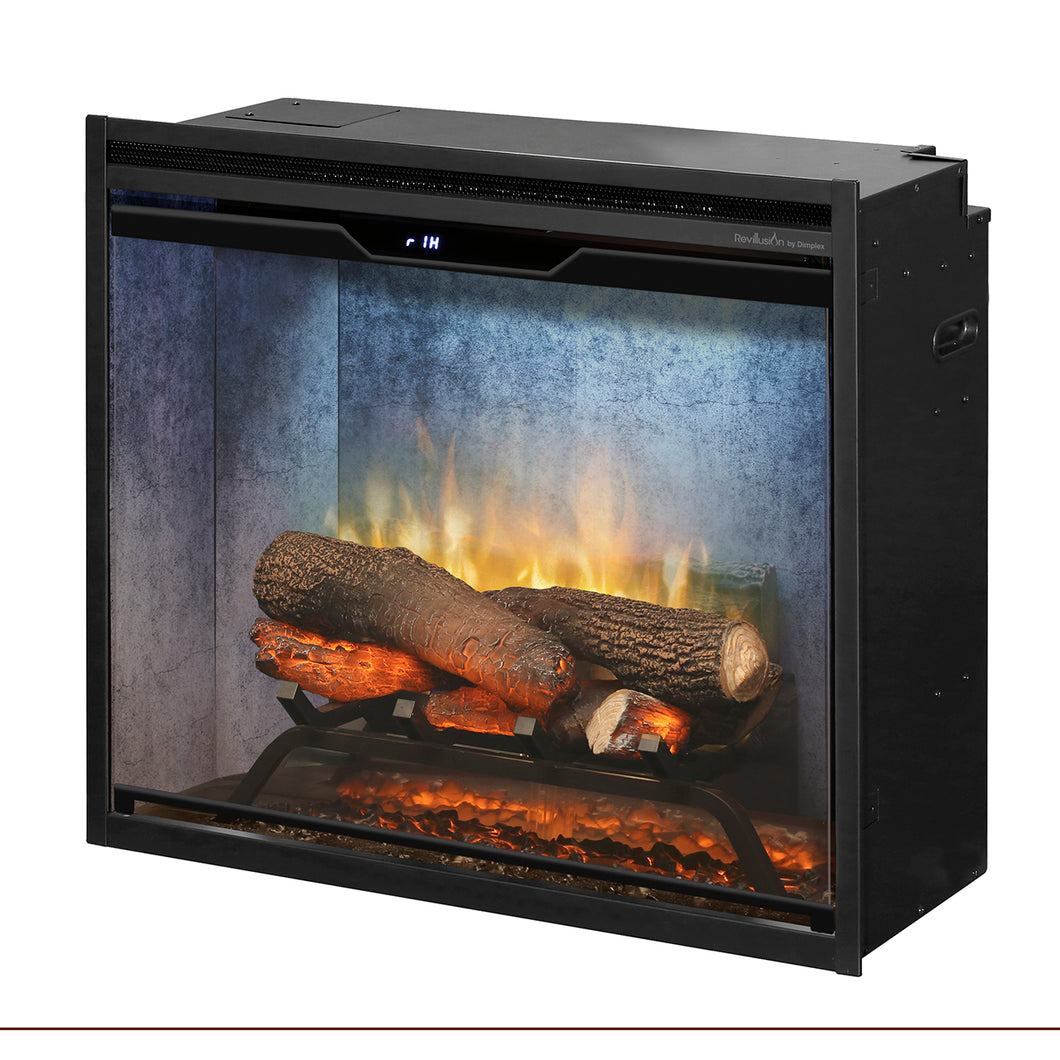 Dimplex - Revillusion 24-Inch Built-In Electric Fireplace - Weathered Concrete Gray