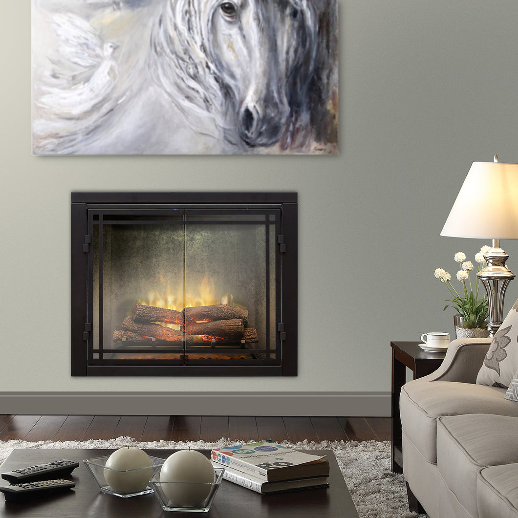Dimplex - Revillusion 42-Inch Built-In Electric Fireplace - Weathered Concrete Gray