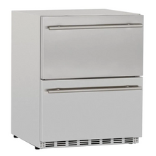Load image into Gallery viewer, Summerset 24-Inch 5.3 Cu. Ft. Outdoor Rated Deluxe Refrigerator Drawers - SSRFR-24DR2