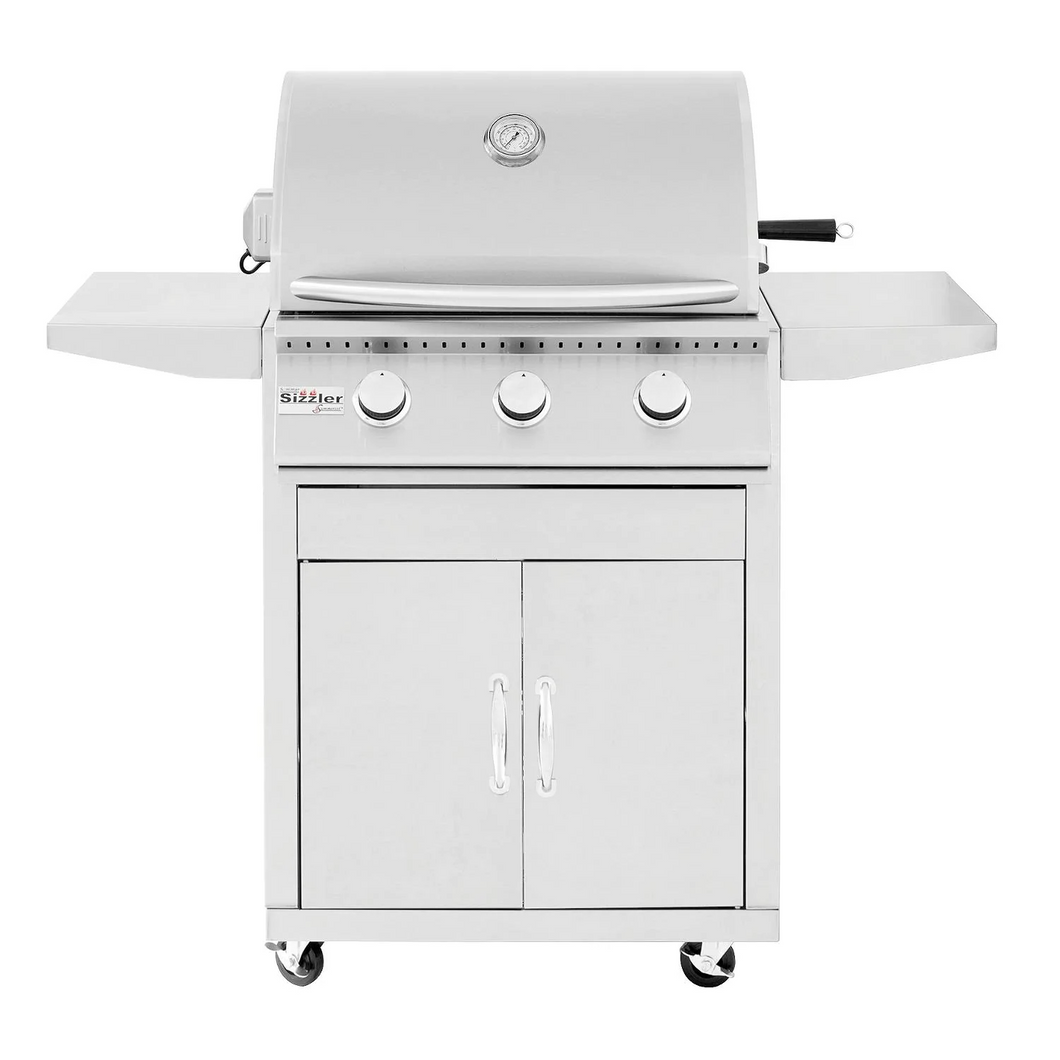 Summerset Sizzler 26-Inch 3-Burner Gas Grill On Cart