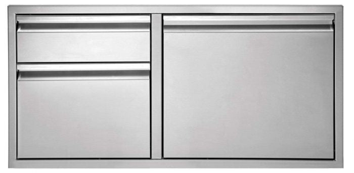 Twin Eagles 30 Inch Stainless Steel Double Drawer & Access Door Combo