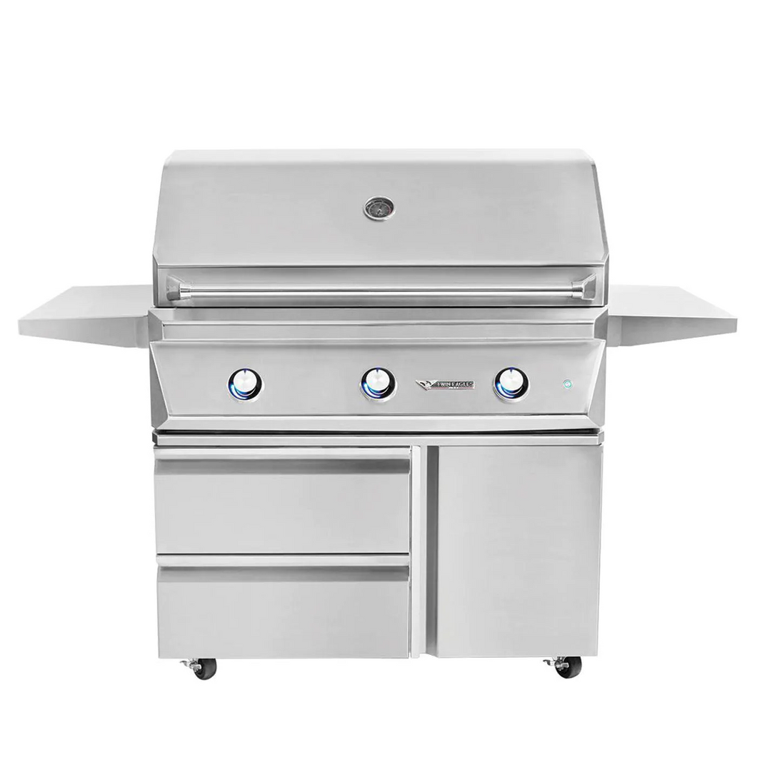 Twin Eagles 42-Inch 3-Burner Gas Grill On Deluxe Cart
