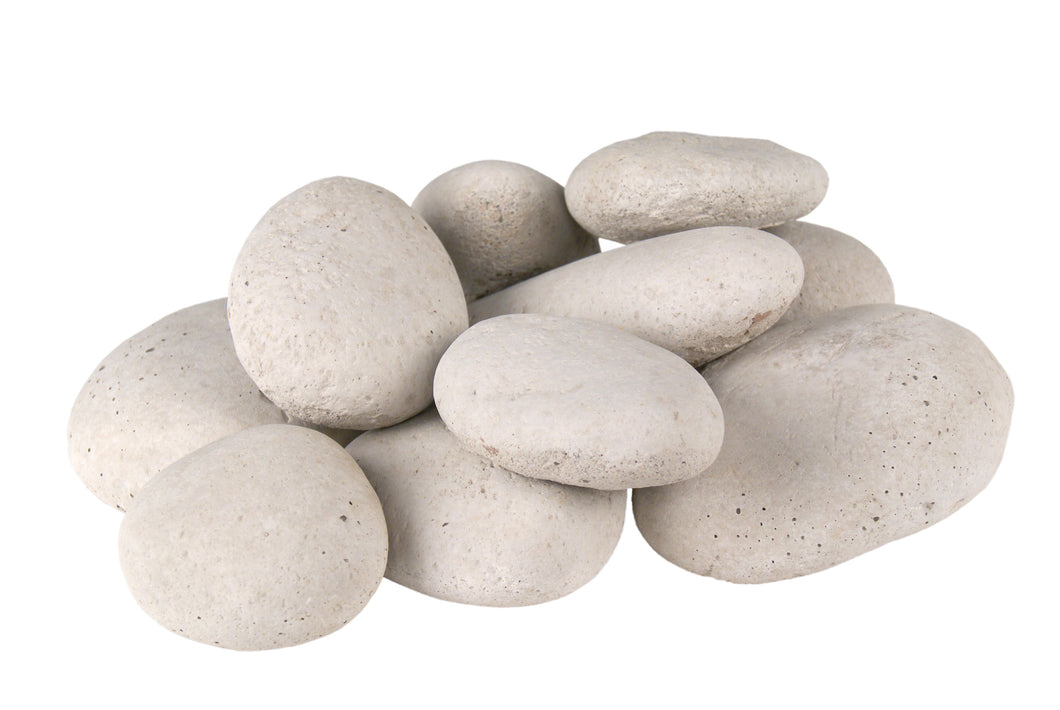 Peterson Real Fyre Decorative Ivory River Rock Fyre Stones