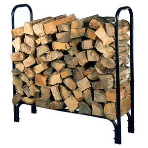 HY-C Deluxe Medium Black Painted Tubular Steel Log Rack