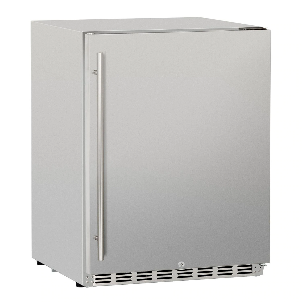 Summerset 24-Inch 5.3 Cu. Ft. Deluxe Right Hinge Outdoor Rated Compact Refrigerator