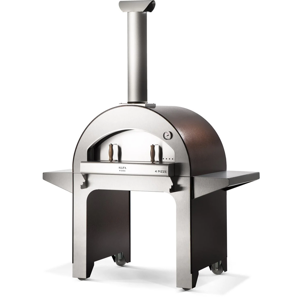 Alfa 4 Pizze 31-Inch Outdoor Wood-Fired Pizza Oven - Copper