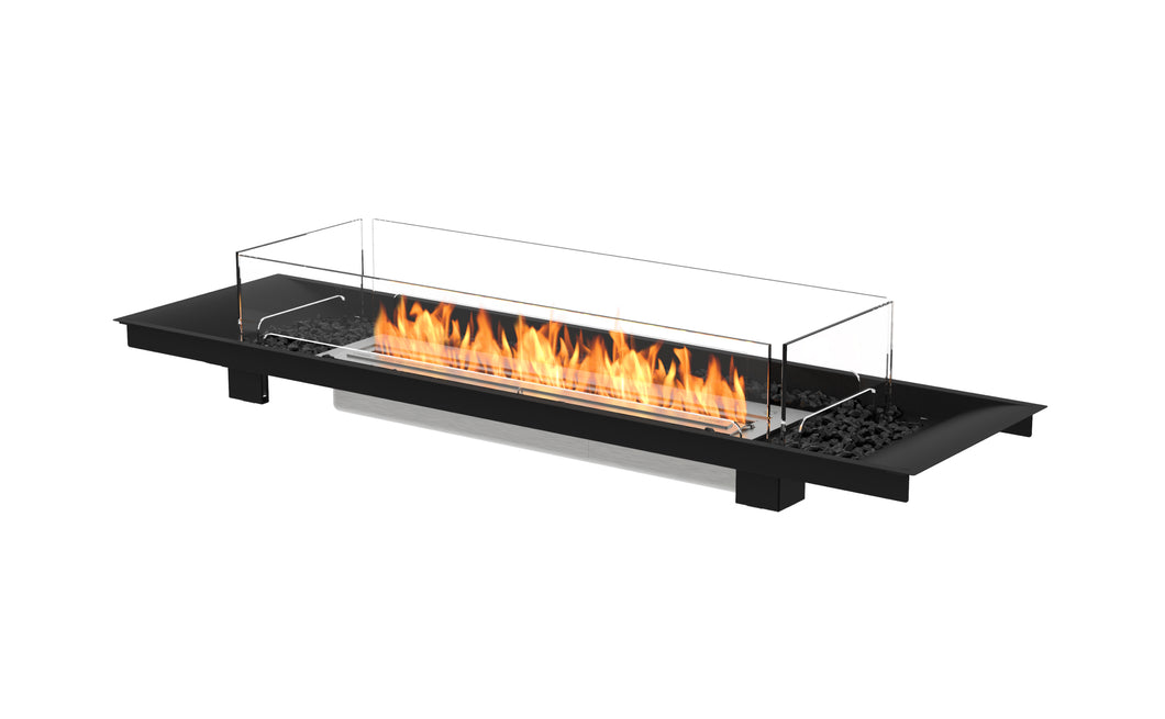 EcoSmart Linear Curved 65 Fire Pit Kit