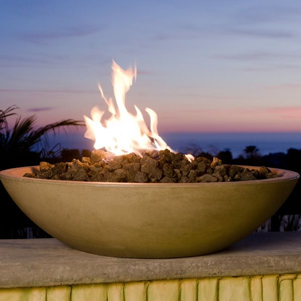 American Fyre Designs Marseille Gas Fire Bowl With All-Weather Electronic Ignition System