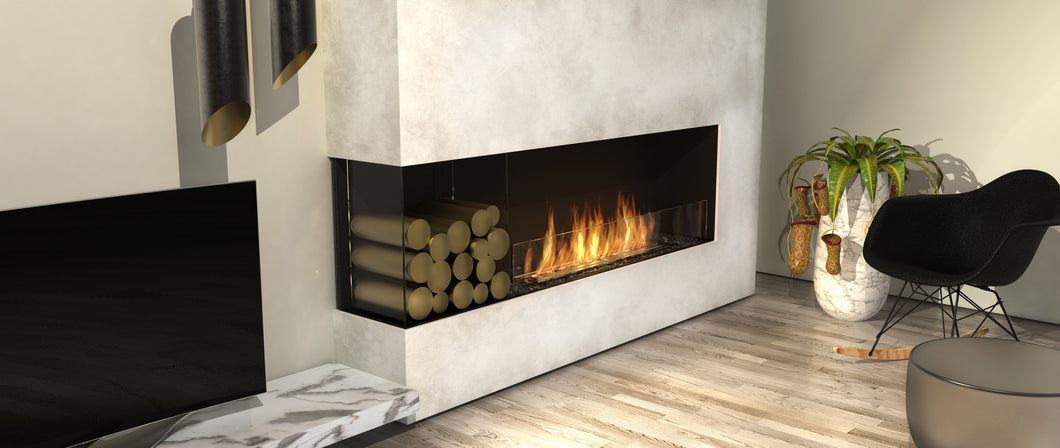 EcoSmart Flex 50LC.BXL Left Corner Fireplace