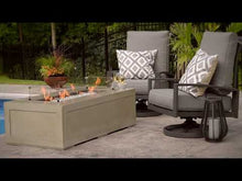 Load and play video in Gallery viewer, The Outdoor GreatRoom Company Cove 60-Inch Linear Gas Fire Pit Table