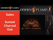 Load and play video in Gallery viewer, Modern Flames 26-Inch Sunset Charred Oak Electric Log Set