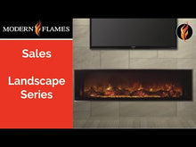 Load and play video in Gallery viewer, Modern Flames Landscape Fullview 100-Inch Built-In Electric Fireplace