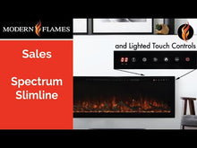 Load and play video in Gallery viewer, Modern Flames Spectrum Slimline Wall Mount/Recessed Electric Fireplace
