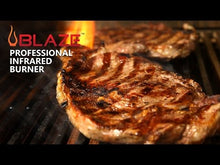 Load and play video in Gallery viewer, Blaze Professional 34-Inch 3-Burner Gas Grill With Rear Infrared Burner On Cart