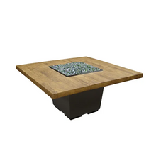 Load image into Gallery viewer, French Barrel Oak Cosmo Gas Fire Pit Table - Dining