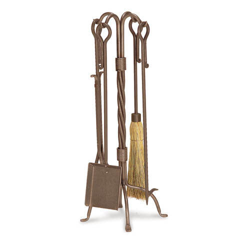 Pilgrim 5 Piece Traditional Burnished Bronze Fireplace Tool Set