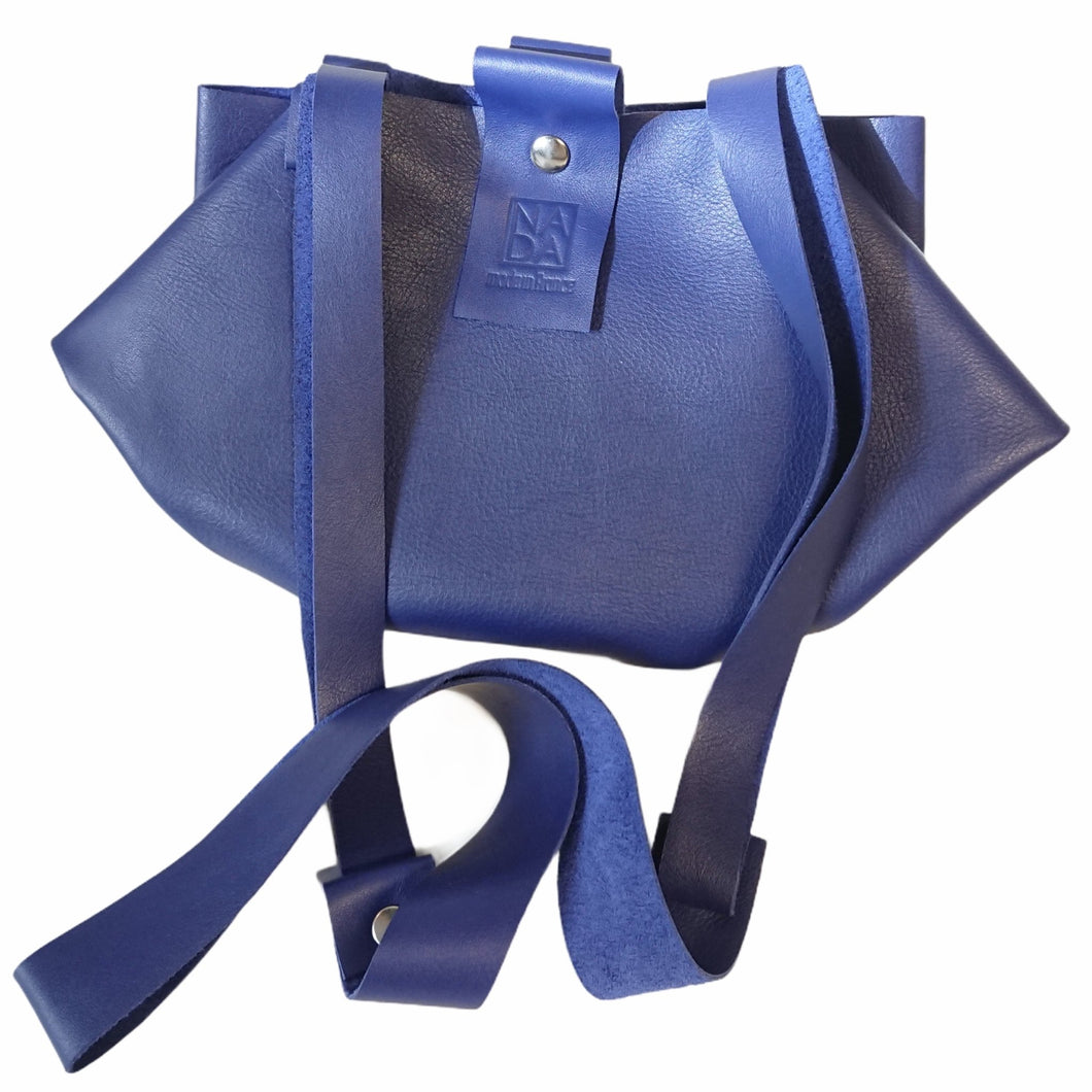 Sac Berlingo Cuir Wild Soft Electric Blue-Nada Bags Paris