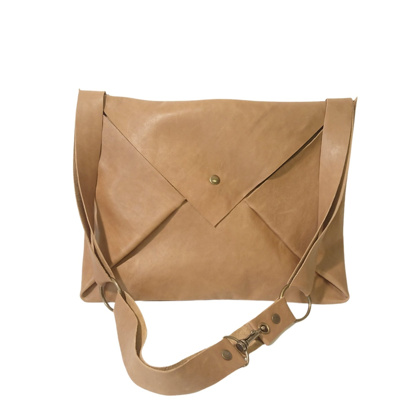Sac Post Cuir Wild Soft Camel-Nada Bags Paris