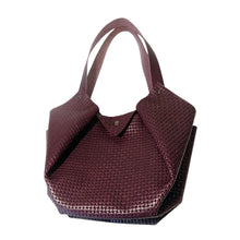 Load image into Gallery viewer, Sac Tulip Cuir Grainé Fantaisie Vannerie Vino-Nada Bags Paris