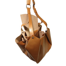 Load image into Gallery viewer, Sac Tulip Cuir Stiff Smooth Caramel-Nada Bags Paris