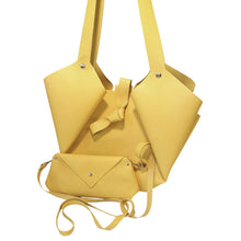 Load image into Gallery viewer, Sac Tulip Cuir Stiff Smooth Yellow-Nada Bags Paris